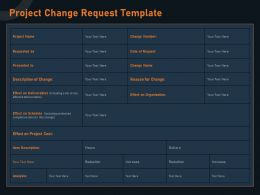 Project Change Request Template Effect M1273 Ppt Powerpoint Presentation Slides Examples