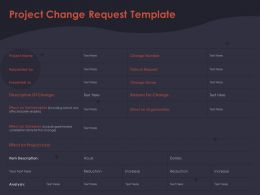 Project Change Request Template Effect On Deliverables Ppt Powerpoint Presentation Inspiration Icons