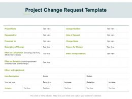 Project Change Request Template Ppt Powerpoint Presentation Icon Slideshow