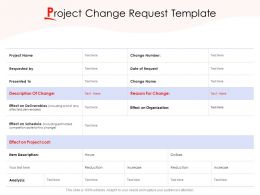 Project Change Request Template Ppt Powerpoint Presentation Infographic Template