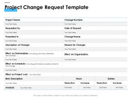 Project Change Request Template Ppt Powerpoint Presentation Layouts Background