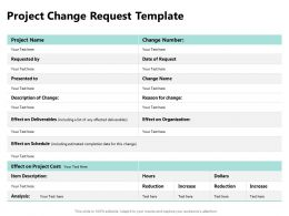 Project Change Request Template Ppt Powerpoint Presentation Pictures