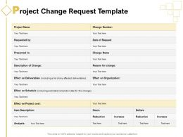 Project Change Request Template Ppt Powerpoint Presentation Portfolio Icons