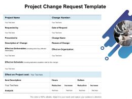 Project Change Request Template Ppt Powerpoint Presentation Slide