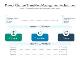 Project Change Transition Management Techniques
