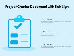 Project Charter Document With Tick Sign