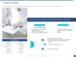 Project Charter Hospital Facing M1225 Ppt Powerpoint Presentation Ideas Aids