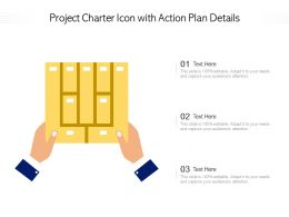 Project Charter Icon With Action Plan Details