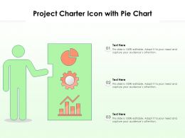 Project Charter Icon With Pie Chart