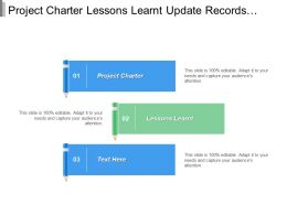 Project Charter Lessons Learnt Update Records Archives Records