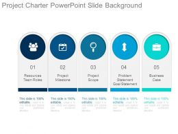 Project Charter Powerpoint Slide Background