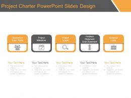 Project Charter Powerpoint Slides Design