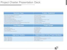 Project Charter Presentation Deck