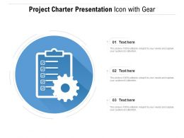 Project Charter Presentation Icon With Gear