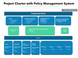 Project Charter With Policy Management System