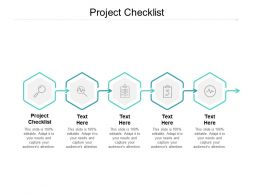 Project Checklist Ppt Powerpoint Presentation Ideas Structure Cpb