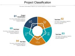 Project Classification Ppt Powerpoint Presentation Icon Designs Cpb