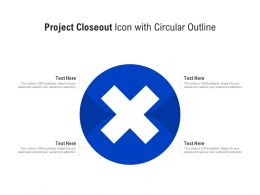 Project Closeout Icon With Circular Outline