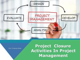 Project Closure Activities In Project Management Powerpoint Presentation Slides