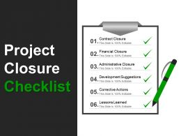 project_closure_checklist_powerpoint_templates_Slide01
