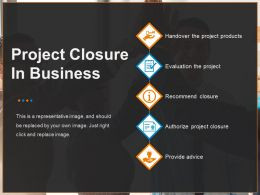 Project Closure In Business Powerpoint Graphics