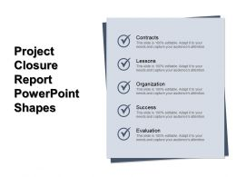 Project Closure Report Powerpoint Shapes