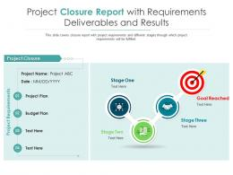 Project Closure Report With Requirements Deliverables And Results