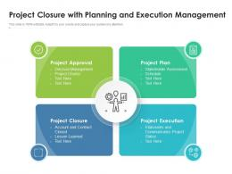 Project Closure With Planning And Execution Management