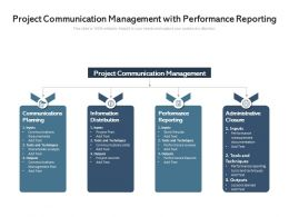 Project Communication Management With Performance Reporting