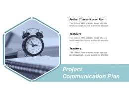 Project Communication Plan Ppt Powerpoint Presentation Ideas Mockup Cpb