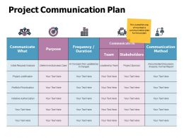 Project Communication Plan Ppt Powerpoint Presentation Themes