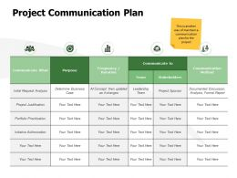 Project Communication Plan Stakeholders K304 Ppt Powerpoint Presentation Gallery