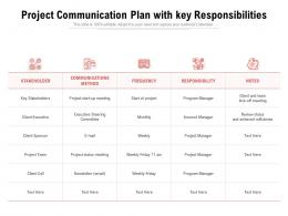 Project Communication Plan With Key Responsibilities