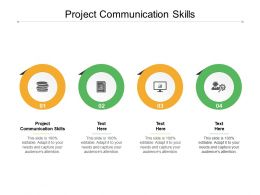 Project Communication Skills Ppt Powerpoint Presentation Gallery Outfit Cpb