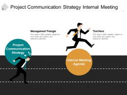 Project Communication Strategy Internal Meeting Agenda Management Triangle Cpb