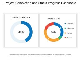 Project Completion And Status Progress Dashboard