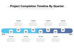 Project Completion Timeline By Quarter