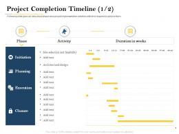 Project Completion Timeline Design Deal Evaluation Ppt Presentation File Examples