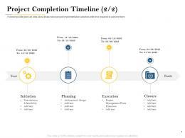 Project Completion Timeline Planning Deal Evaluation Ppt Presentation Icon Good