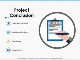 Project Conclusion Performance Analysis Ppt Powerpoint Presentation File Ideas