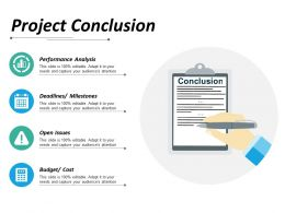 Project Conclusion Ppt Infographics Outfit