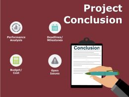 Project Conclusion Ppt Powerpoint Presentation Gallery Ideas