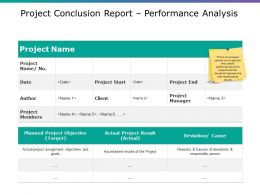 Project Conclusion Report Performance Analysis Powerpoint Ideas