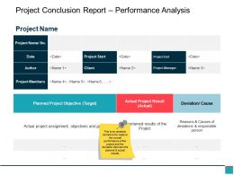 Project Conclusion Report Performance Analysis Ppt Samples