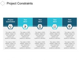 Project Constraints Ppt Powerpoint Presentation Infographic Template Gridlines Cpb
