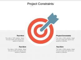 Project Constraints Ppt Powerpoint Presentation Pictures Shapes Cpb