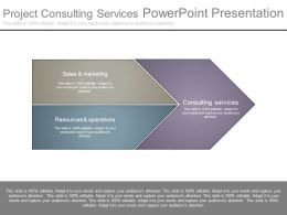 Project Consulting Services Powerpoint Presentation