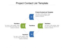 Project Contact List Template Ppt Powerpoint Presentation Model Professional Cpb