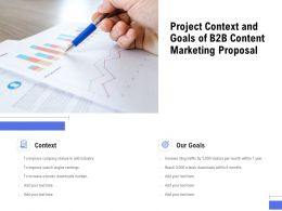 Project Context And Goals Of B2B Content Marketing Proposal Ppt Powerpoint Presentation Inspiration