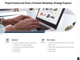 Project Context And Goals Of Content Marketing Strategy Proposal Ppt Powerpoint Presentation Model